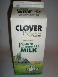 Clover Organic Farms - Organic Milk 1% - Top Rated